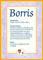 Nombre Borris