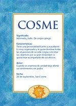 Nombre Cosme
