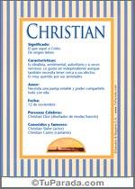 Nombre Christian