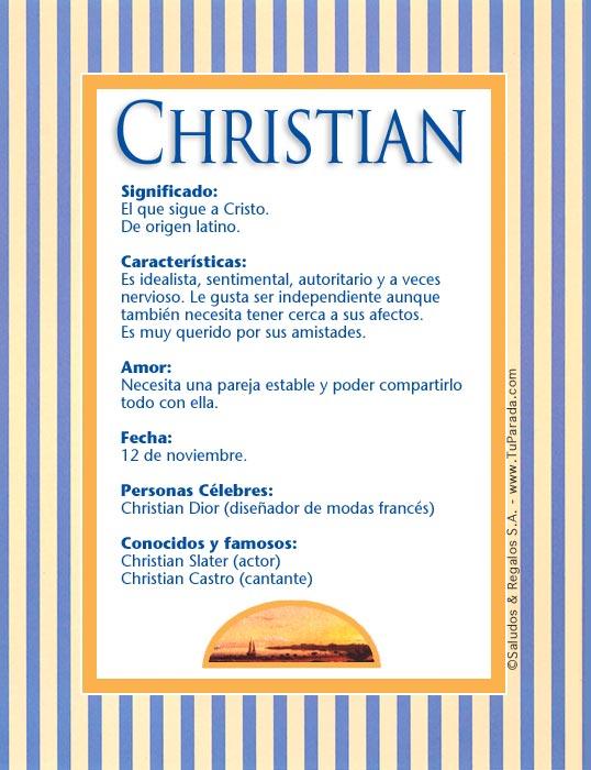 Christian, imagen de Christian