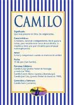 Nombre Camilo
