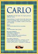 Nombre Carlo