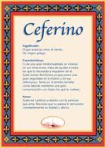 Nombre Ceferino