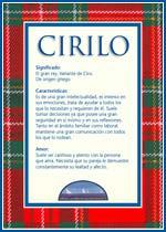 Origen y significado de Cirilo