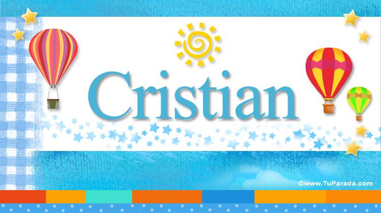 Cristian, imagen de Cristian