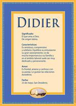 Nombre Didier