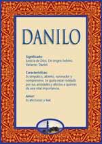Nombre Danilo