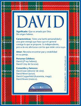 Nombre David