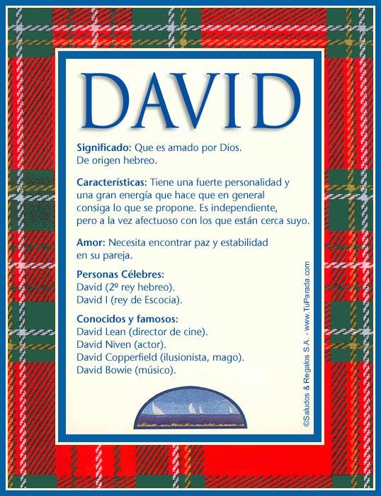 David, imagen de David