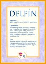 Nombre Delfín