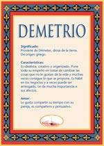 Origen y significado de Demetrio