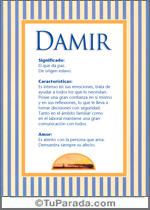 Nombre Damir