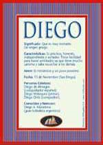 Origen y significado de Diego
