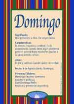 Nombre Domingo