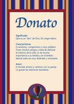 Nombre Donato