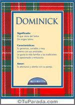 Nombre Dominick