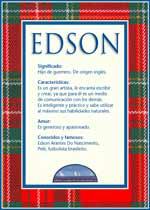 Origen y significado de Edson