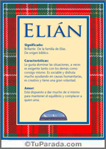 Origen y significado de Elián