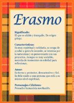 Origen y significado de Erasmo