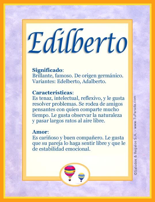 Edilberto, imagen de Edilberto