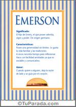 Origen y significado de Emerson