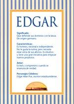 Nombre Edgar