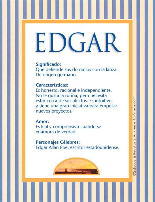 Edgar, imagen de Edgar