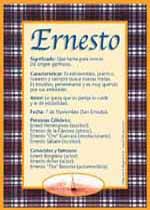 Origen y significado de Ernesto