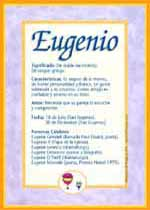 Origen y significado de Eugenio
