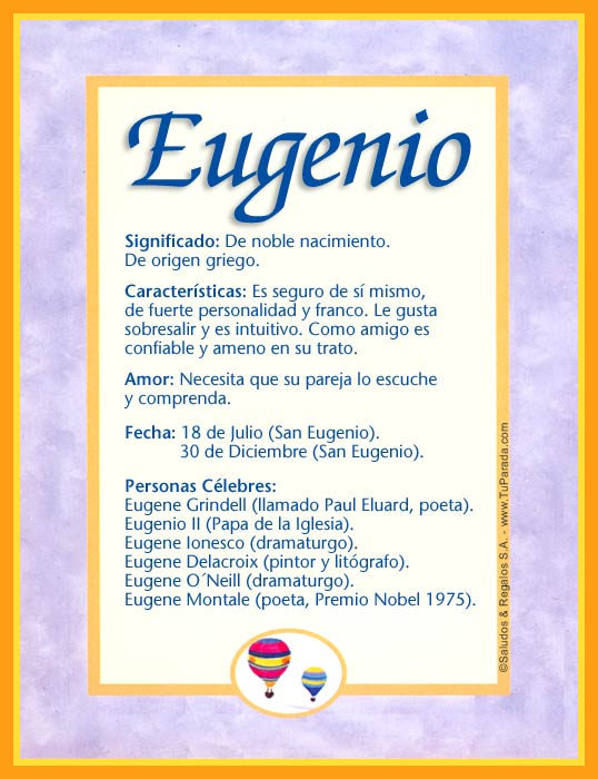 Eugenio, imagen de Eugenio