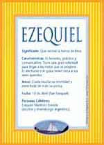 Origen y significado de Ezequiel