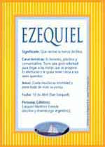 Nombre Ezequiel
