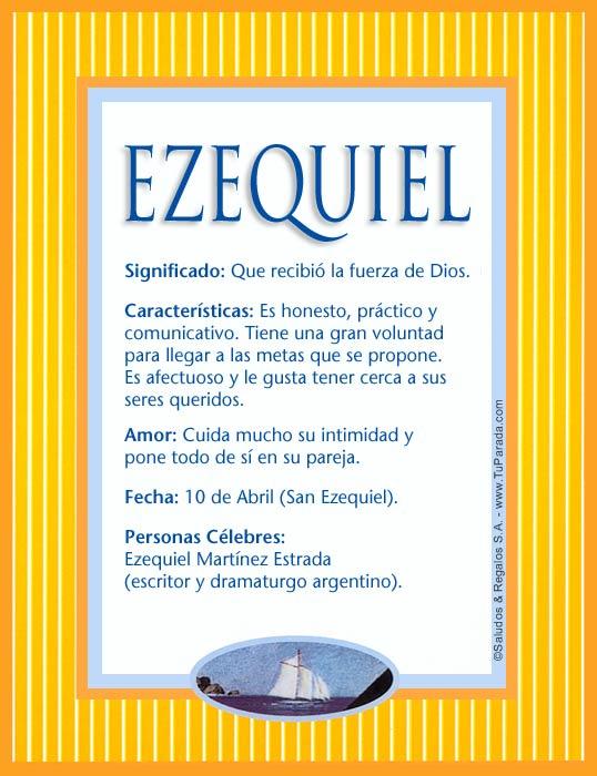 Ezequiel, imagen de Ezequiel