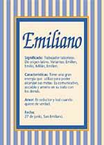 Origen y significado de Emiliano
