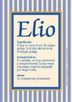 Nombre Elio