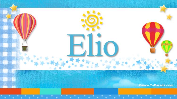 Elio, imagen de Elio