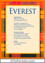 Nombre Everest