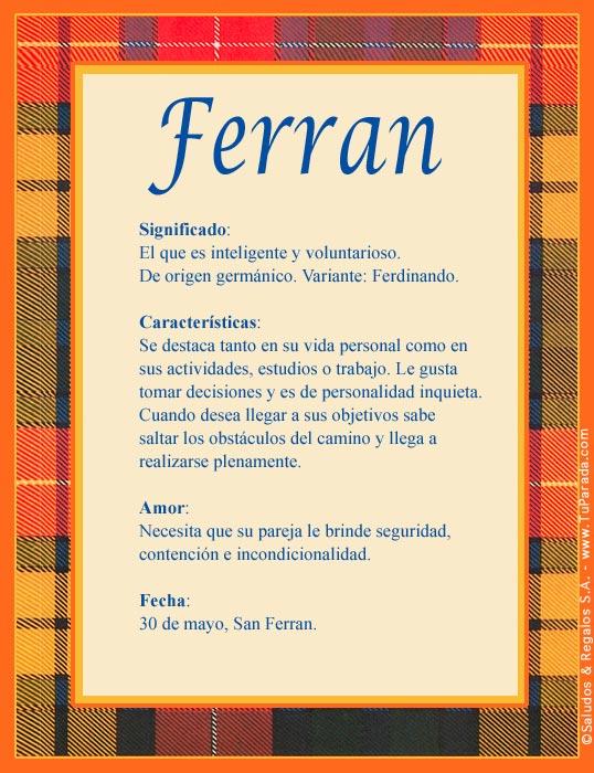 Ferran, imagen de Ferran