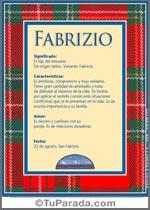 Origen y significado de Fabrizio