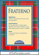 Nombre Fraterno