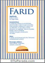 Nombre Farid