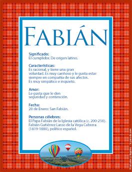 Origen y significado de Fabián