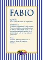 Origen y significado de Fabio