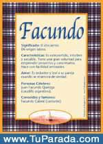 Origen y significado de Facundo