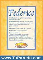 Origen y significado de Federico