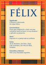 Origen y significado de Félix
