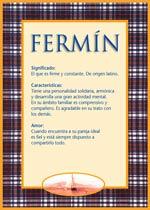Nombre Fermín