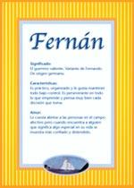 Nombre Fernán
