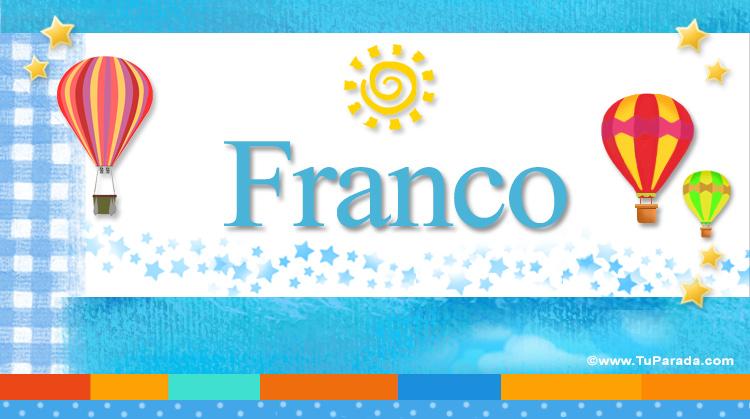 Franco, imagen de Franco
