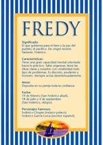 Origen y significado de Fredy